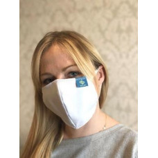 2 Layer Reusable Face Covering with Printed Label