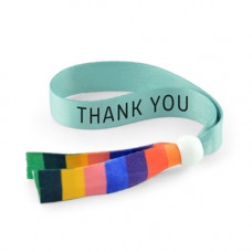 Rainbow Fabric Wristband