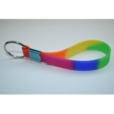 Rainbow Silicon Loop Keyring