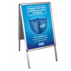 Wear a Face Covering' A Board